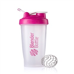 Sundesa, Classic Blender Bottle, with Loop, Pink, 28 oz Bottle