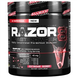 ALLMAX Nutrition, Razor8 Blast Powder, Extreme Berry, 10.01 oz (285 g)