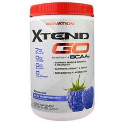 Scivation, Xtend GO, Energy + BCAAs, Blue Raspberry, 15.1 oz (429 g)